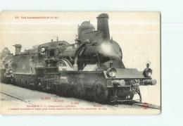 Cie P.L.M. - Machine Compound C22 Pour Trains Express - Les Locomotives  , Ed. Fleury - 2 Scans - Equipment