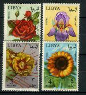 LIBYE ( POSTE ) : Y&T N°  272/275  TIMBRES  NEUFS  AVEC  TRACE  DE  CHARNIERE . - Libye