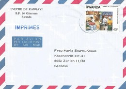 Rwanda 1991 Gitarama Milk Cow Dairy Cover - 1990-99: Afgestempeld