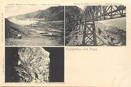 Pays Div -ref N959- Perou - Peru - / Carte Décollée Ayant été Proprement Recollée - - Pérou