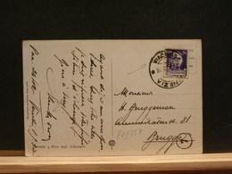 80/857  CP  POUR LA BELG.  1923  TIMBRE PERFORE - 1900-44 Vittorio Emanuele III
