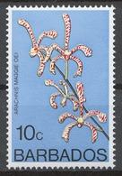 Barbados 1974-79 Mi# 371Y** DEFINITIVE, FLOWERS - Barbados (1966-...)