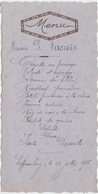 MENU-GAUFRE-ECOLE-SAFFRAENBERG-BRUSTEM-MILITARIA-1935-ORIGINAL-VINTAGE+-8,5-17CM ! - Menus