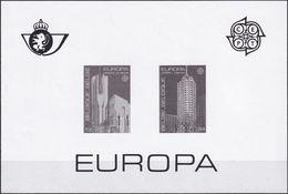 BELGIEN 1987 Mi-Nr. 2303/04 Schwarzdruck ** MNH - Feuillets Noir & Blanc