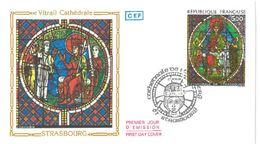 FDC Vitrail Cathédrale De Strasbourg (67 Strasbourg 1985) - FDC