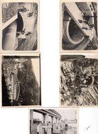 9 PHOTOS  De Chantiers De BARRAGES HYDROELECTRIQUES Construits Dans Les Années 35/45 - Albums & Collections