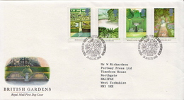 Great Britain Set On Used FDC - Trees