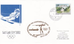 Liechtenstein 2002 Salt Lake City Olympic Winter Games - National Team Flying To Games (DD24-23) - Winter 2002: Salt Lake City