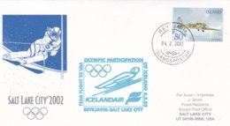 Iceland 2002 Salt Lake City Olympic Winter Games - National Team Flying To Games (DD24-23) - Winter 2002: Salt Lake City