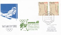 Spain 2002 Salt Lake City Olympic Winter Games - National Team Flying To Games (DD24-23) - Winter 2002: Salt Lake City