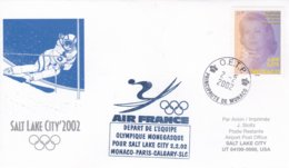 Monaco 2002 Salt Lake City Olympic Winter Games - National Team Flying To Games (DD24-23) - Winter 2002: Salt Lake City
