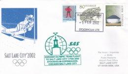 Sweden 2002 Salt Lake City Olympic Winter Games - National Team Flying To Games (DD24-23) - Winter 2002: Salt Lake City