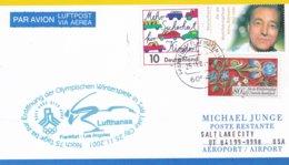 Germany Card From Frankfurt Am Main 2002 Salt Lake City Olympic Winter Games - Noch 75 Tage Bis Zur Eröffnung (DD24-23) - Winter 2002: Salt Lake City