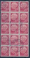 BUND - Mi Nr 185/185 - 15-er Block -5 Waagerechte Paare - Gest./obl.  - Cote 75,00 € - Gebraucht