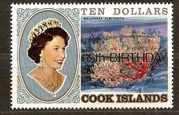 Cook Islands 1991 Yvertn° 1019 *** MNH Cote 22,50 Euro Coraux Koralen Overprint 65thh Birthday Elizabeth II - Cook