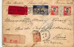 """Indochine - Lettre """"Par Avion"""" Recommandée Postée De Saïgon En 1929 Pour Paris - France - Indochina (1889-1945)"""