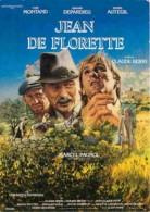 Cinema - Affiche De Film - Jean De Florette - Yves Montand - Gérard Depardieu - Daniel Auteuil - Voir Scans Recto-Verso - Affiches Sur Carte