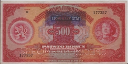 SLOVAKIA P.  2s 500 K 1929 VF - Slowakije
