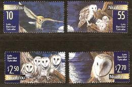 Tonga Niuafo'ou 2001 Yvertn° 288-91 *** MNH Cote 12,50 Euro Faune Oiseaux Vogels Birds - Hiboux & Chouettes