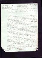 Lettre Epoque Revolutionnaire De Langon Sur La Chasse A La Palombe A Villandreaut En Gironde - Documents Historiques