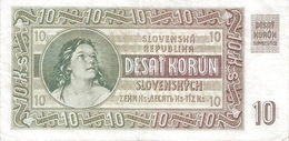 SLOVAKIA P.  4s 10 K 1939 AUNC - Slovaquie