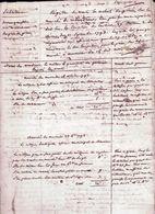 Registre Des Ventes De Grains Sur Le Marché De Villandraut En Gironde 1793,17 Pages - Documents Historiques