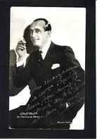 Autographe Signature à L'encre Sur Carte Postale Josselin - Autographes