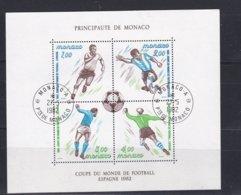 Monaco 1982 FIFA World Cup Football Spain Souvenir Sheet Used*  (H26) - 1982 – Espagne