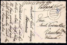 FELSDPOST POSTKARTE WWII 1941. - Guerra 1939-45