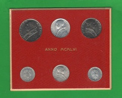 Vaticano Serie 1956 Papa Pio XII Pope Vatikan Rare Coins - Vaticano