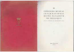 Programme Concours Reine Elisabeth   1960 - Programmes
