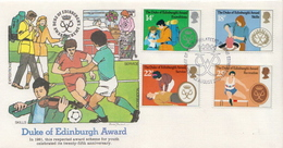 Great Britain Set On FDC - Childhood & Youth