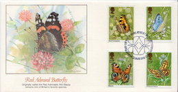 Great Britain Set On FDC - Butterflies