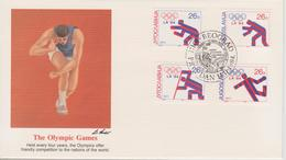 FDC YOUGOSLAVIE  JEUX OLYMPIQUES  DE LOS ANGELES 1984 - Summer 1984: Los Angeles