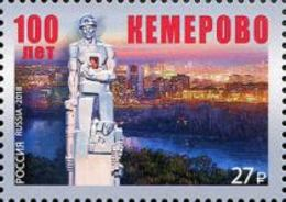 Russia 2018 - One 100th Anniversary City Kemerovo Places Regions Celebrations Architecture Monument Miner Art Stamp MNH - Celebrations
