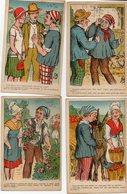 S 1 -  193 -  195  -   6  CARTES   FANTAISIES   -      Scènes  Humoristiques  Rurales  - - Unclassified