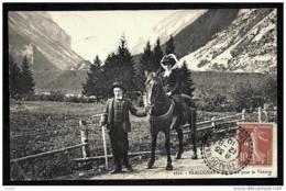 CPA ANCIENNE FRANCE- PRALOGNAN (73)- EN ROUTE POUR LA VANOISE A CHEVAL- TRES GROS PLAN - Pralognan-la-Vanoise