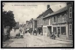 CPA ANCIENNE FRANCE- GOURNAY-EN-BRAY (76)- LA RUE DE FERRIERES- BELLE ANIMATION- ATTELAGES- COMMERCES- BOULANGERIE - Gournay-en-Bray