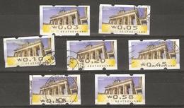 Allemagne Fédérale 2008 - Timbres De Distributeur - Porte De Brandebourg - Petit Lot De 7 Valeurs Différentes° - [7] République Fédérale