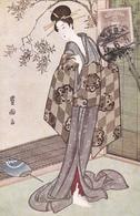 CPA JAPAN - Japon - Illustration Femme Japonaise Avec Kimono - Folklore - Geisha - Andere