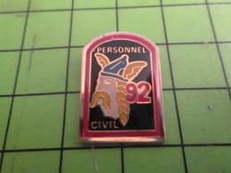 313F Pin's Pins / Rare Et Beau  AUTRES : TETE DE GAULOIS PERSONNEL CIVIL VERCINGETORIX ? - Pin's