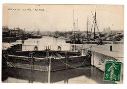 CPA Caen 14 Calvados Bateaux Port écluse éditeur ND N°36 - Caen