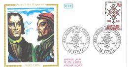 FDC Accueil Des Huguenots (30 Anduze 31/08/1985) - FDC