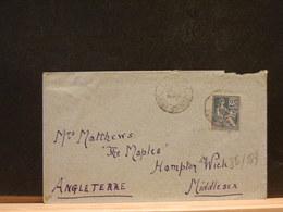 80/889 LETTRE FRANCE POUR ANGLETERRE - 1900-02 Mouchon