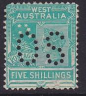 Western Australia 1902 SG 126 Mint Hinged Perf OS Pulled Perf - 1854-1912 Western Australia