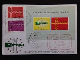 REPUBBLICA - Europa CEPT 1971 Con Foglietto Ricordo Ufficiale + Spese Postali - 6. 1946-.. Repubblica