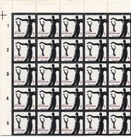 Nederland - Verzetsmonumenten - Gevallenen, Waalwijk - COMPLEET VEL 100 ZEGELS (10x10) - MNH - NVPH 836 - Gaaf Exemplaar - Neufs