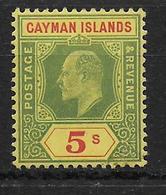 CAYMAN - YVERT N° 28 * MLH - COTE = 75 EUR. - Iles Caïmans