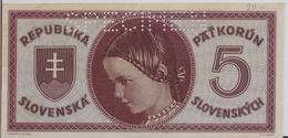 SLOVAKIA P.  8s 5 K 1945 AUNC - Slovakia