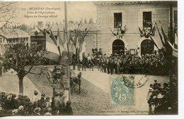 CPA 24 MUSSIDAN. FETES DE L'AGRICULTURE. DEPART DU CORTEGE OFFICIEL 1906 - Mussidan